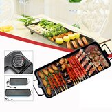 211V Electric BBQ Grill Kitchen Teppanyaki Smokeless Non-stick Surface Adjustable Temperature Grill for Barbecue Tools