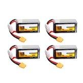 4 Stks ZOP Power 14.8 V 1800 mAh 65C 4S Lipo Batterij XT60 Plug Voor PFV Racing Drone