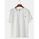 Sun Embroidery Basic Yuvarlak Boyun Kısa Kollu Tişörtler