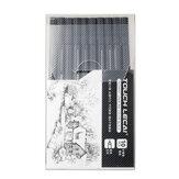 Touchlecai 10 قطعة / مجموعة ميكرون القلم تعيين فرشاة ضد للماء أسود حبر رسم القلم رسم الفن علامات القرطاسية للطلاب