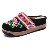 Embroidery Cloth Slippers Retro Chinese Style Sandals
