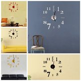 Bricolage Mini Art Moderne Miroir Horloge Murale 3D Autocollant Design Home Office Room Decor