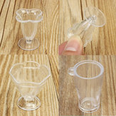 DIY Mini Cup Creamy Soil Sticks Goblets Sticky Minerals Mini Transparent Plastic Cooking