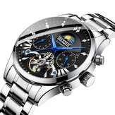 HAIQIN 8509 Fashion Full Steel 3ATM Waterproof Automatic Mechanical Watch