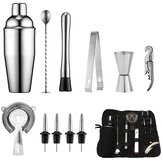Muti-functie RVS Cocktail Shaker Set Ice Tong Mixer Drink Barman Browser Kit Bars Set Professionele Barman Tool