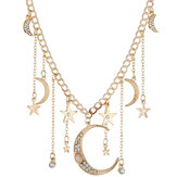 Retro kwasten Moon Star ketting