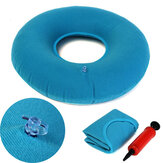 Inflatable Medical Hemorrhoid Rubber Round Seat Cushion Blue PVC Pillow