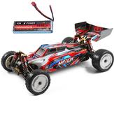 Wltoys 104001 RTR mejorado 7,4 V 2600 mAh RC Coche 1/10 2,4G 4WD 45 km / h chasis de metal modelos de vehículos juguetes