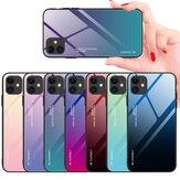 Bakeey for iPhone 12 / for iPhone 12 Pro6.1インチケースグラデーションカラー強化ガラス耐衝撃性スクラッチ耐性Protectiveケース|非オリジナル