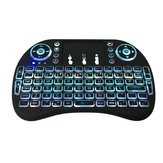 2.4GHz Wireless 7 Colors Rainbow Backlight toetsenbord Met Touchpad Mouse Voor TV Box / Smart TV / PC