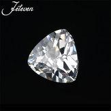 12X12MM Trillion Cut Unheated 10.28Ct safira branca AAAA + soltas decorações de pedras preciosas
