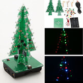Geekcreit® DIY kerstboom LED Flash Kit 3D elektronische leerkit