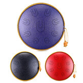 14 Inch 9 Tone D Minor Handheld Tank Drum Percussion Instrument Yoga Meditation Steel Tongue Drum Meditation