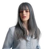 أشقر يونيكورن أزرق طويل مستقيم شعر أنيق أنيق يتدفق درجة حرارة عالية الحرير الاصطناعية شعر مستعار مناسب للمرأة الأمريكية الأفريقية