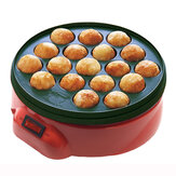 18 Отверстий Takoyaki Grill Pan Cooking Пластина Плита Машина Осьминог 650 Вт 220 В Кухня Кулинария Машина