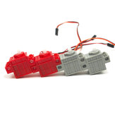 KittenBot® 360° Red Color Geek Servo & 270° Gray Color Geek Motor with Wire for Lego/Micro:bit