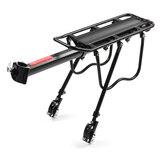 BIKIGHT support arrière de vélo en alliage d'aluminium support de porte-bagages de vélo support de tige de selle arrière accessoires de vélo pour vélos adultes