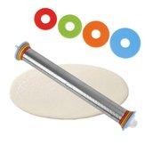 1stückEdelstahlNudelholz4Einstellbare Discs Antihaft-entfernbare Ringe Teig Knödel Nudeln Pizza Backen Werkzeuge