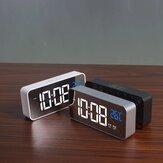 LED Music Alarm Relógio Digital Snooze Função Tabela de exibição de temperatura Decoração de espelho para casa Relógio