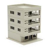 Outland Models Railway Modern 4-Story Office Building Unpainted 1:160 FOR GUNDAM