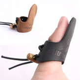 Cowhide Finger Guard Protector Handschoen voor Fishing Ourdoor Activiteiten Leather Finger Protection