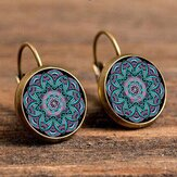 Bohemian Flower Drop Earring Ethnic Earrings Purple Flower