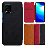 Nillkin for Xiaomi Mi 10 Lite Case Bumper Flip Shockproof with Card Slot Full Cover PU Leather Protective Case Non-original