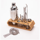 10pcs Cocktail Shaker Set Maker Mixer Martini Spirits Bar Crépine Bartender Kit