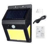 48+6+6COB Solar Güç Beyaz Işık Bahçe Duvar Lamba Outdoor Su Geçirmez Enerji Tasarruflu Yard Işıkları