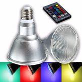 E27 8W عكس الضوء PAR30 RGB LED ضوء اللون تغيير مصباح بقعة مصباح الفيضانات التحكم عن بعد مراقبة AC85-265V