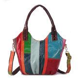 MulheresÓleoWaxCouroGenuínoHobos Handbags