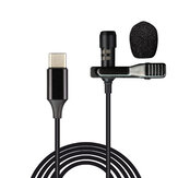 Bakeey USB Type-C Microphone Mini Small Portable Wired Clip-on Lapel Collar Lavalier Condenser USB-C Microphone for Type-C Phones Microphone