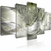 5pcs Hanging Painting Light Green Canvas Wall Art Print Painting home decor abstract Wall Art Picture Decoration