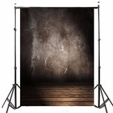 5x7FT vinil retro parede cinza fundo de fotografia Wood Floor Studio Backdrop Props