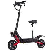 Scooter elétrica dobrável com motor duplo T85 28.6AH 60V 2800Wx2 com selim 85 km / h Velocidade máxima 100 km Faixa de quilometragem 200 kg Rolamento UE Plug