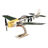 MinimumRC P-51 Mustang 4CH 360mm Wingspan RC Airplane ala fissa KIT / PNP
