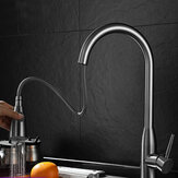 Kitchen Sink Faucet Pull Out Sprayer Head Two Water Spray Mode Stainless Steel Mixer Tap