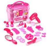 Girls Princess Pretend Maquillaje Toys Set DIY Beauty Cosmetic Hairdressing Toys Gift