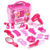 Meninas princesa fingir Maquiagem brinquedos set diy beleza cosméticos brinquedos de cabeleireiro presente