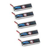 5X Eachine 3,8V 460mAh 50C / 100C 1S Lipo-batteri 60 * 18 * 7mm PH2.0 Output til Novice-II FPV Racing Drone