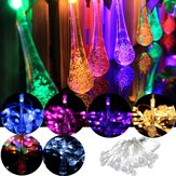 30 LED Solar Powered Raindrop Fairy String Light Outdoor Xmas Bryllup Have Party Decor