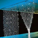 3x3M 300LED Outdoor Christmas Window Curtain String Fairy Wedding Light 110V US