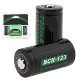 2PcsSoshin3.7v700mahCR123Li-Ion Batterie 16340 Lithium Batterie Geschützt Wiederaufladbar Batterie + Box