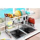Keuken opbergrek Meerlaags kunststof opslag Huishoudelijke opstelling voor keukengerechten