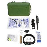 25 in 1 SOS Emergency campeggio Survival Equipment Strumenti Kit Attrezzo tattico per attrezzi da esterno