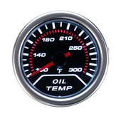 52mm 2 Pollici Universal Car Smoke lente LED Pointer Water Olio Temperature Temp Gauge Meter