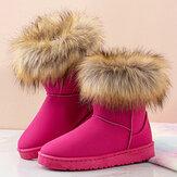 Женские повседневные однотонные замшевые теплые плюшевые удобные плоские снег Ботинки