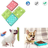 4PCS Pet Bowls Kombination Hund lecken Tablett Hund Anti-Saugen Lustige Schüssel Haustier Slow Food Interaktives Puzzle Pet Toy