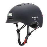 Beimi Safety Half Face Helmet with LED Warning Light Breathable Cycling Men Women Bicycle Riding Equipment for Motorcycle Electric Scooter Road Bike