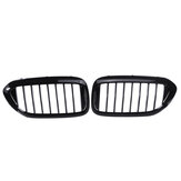 Pair Glossy Black Front Kidney Grill Grille For BMW 5 Series G30 G31 G38 M5 2017-2018